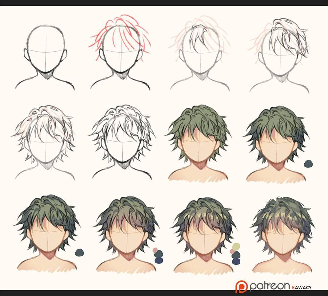 How I draw hair (free version) **more tutorials / full