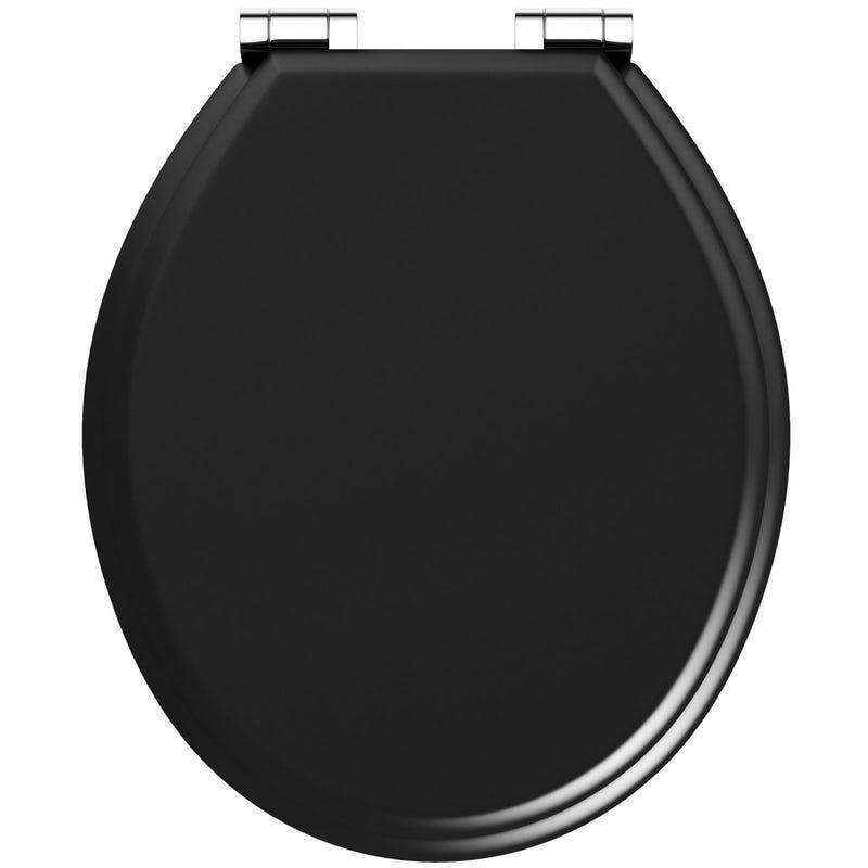 Fine The Bath Co Universal Soft Close Wooden Seat Matte Black In Spiritservingveterans Wood Chair Design Ideas Spiritservingveteransorg