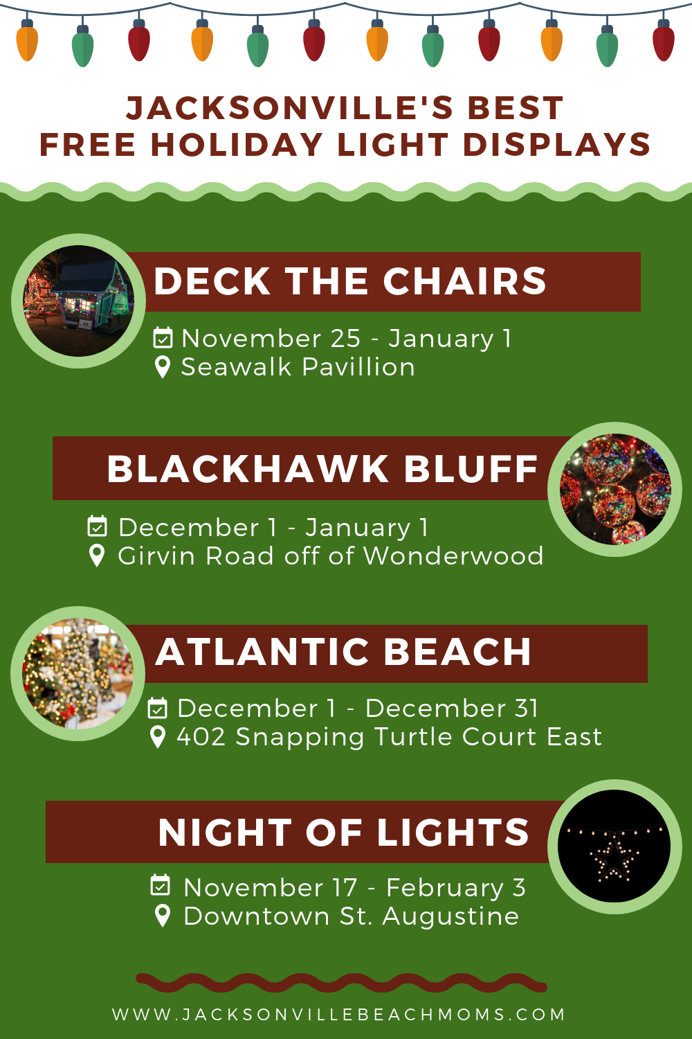Christmas Lights In Jacksonville Florida And Night Of Lights In St Augustine Florida Beach Mom Florida Christmas Jacksonville Beach