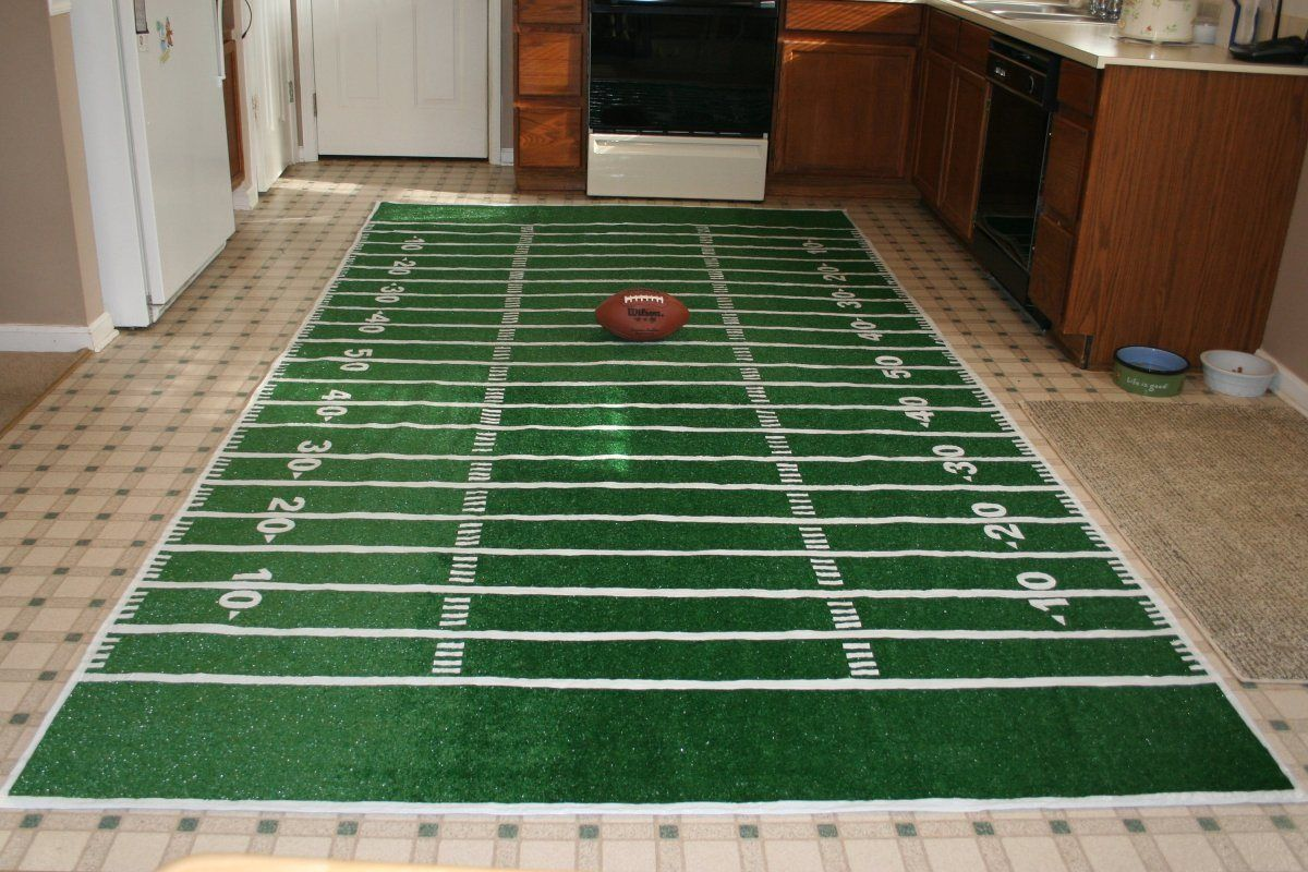 Still Boosting Your Hobby Through The Cave Interior You Can Get This Green Field Rug For Football