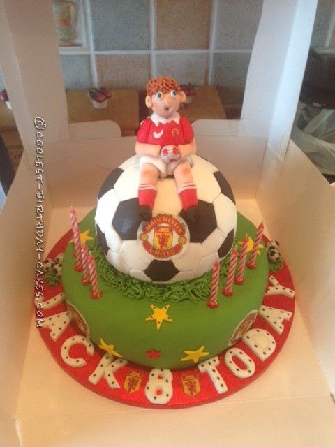 Coolest Manchester United Football Birthday Cake