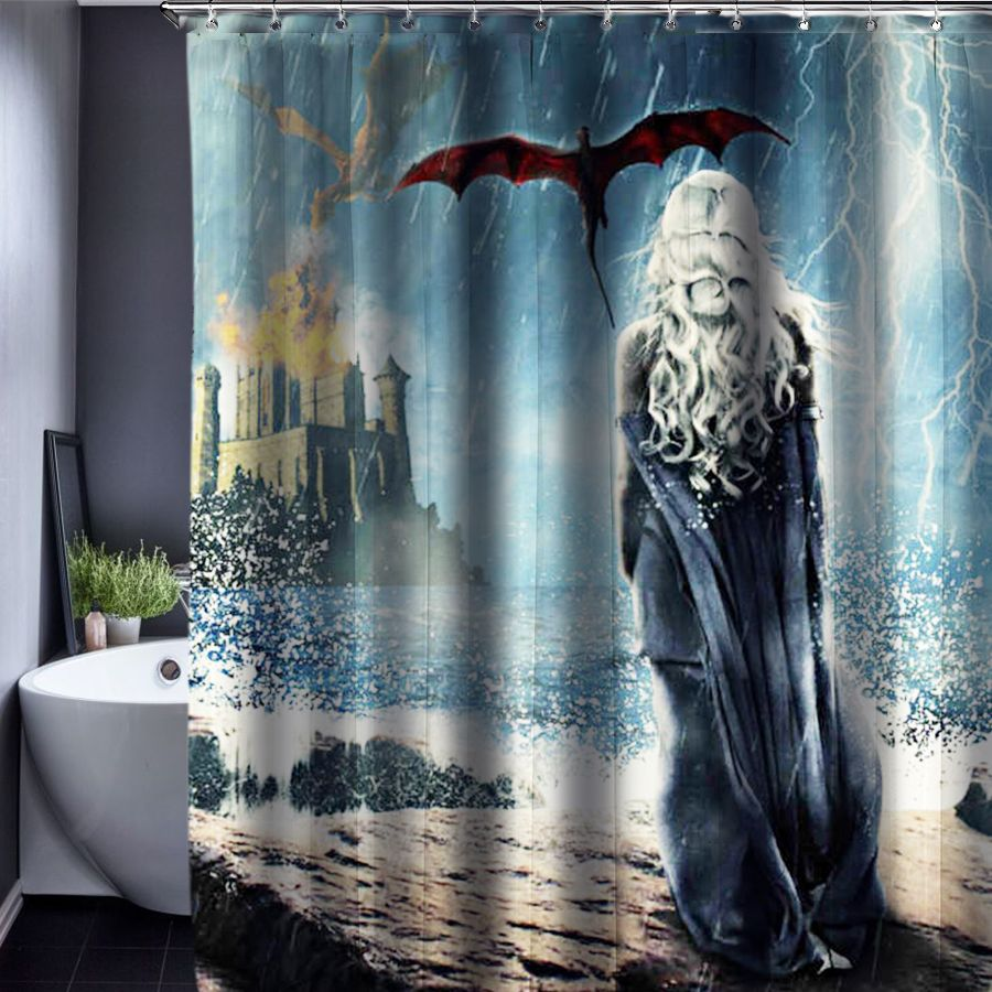 Aliexpress Com Buy Game Of Thrones Shower Curtain Polyester Waterproof Fabric 150x180cm Shower Curtains For Shower Curtain Polyester Shower Curtain Curtains