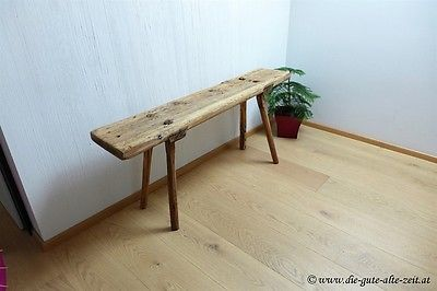 alte sch ne schlichte urige holzbank sitzbank gartenbank. Black Bedroom Furniture Sets. Home Design Ideas
