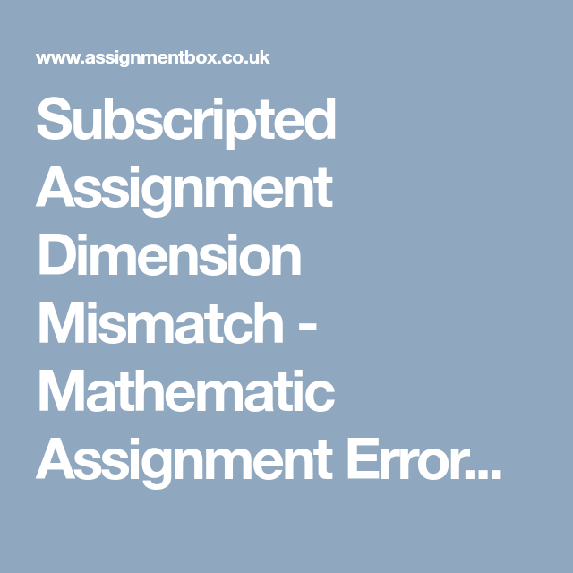 subscripted dimension mismatch