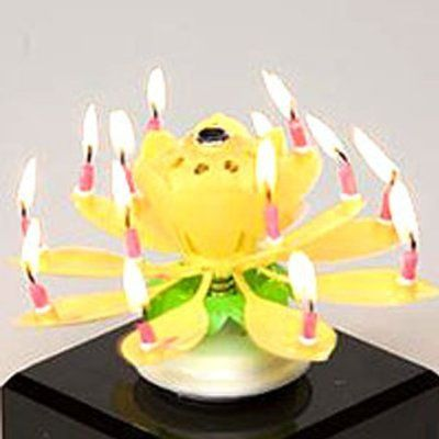 Flaming Happy Birthday Candle