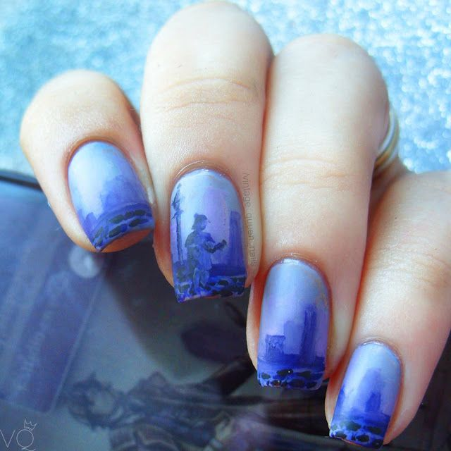 Nail Art Inspired by Sherlock Holmes. Vintage Quee Nails | Nail Art ...