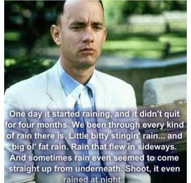 Forrest Gump Shrimp Quotes: How Forrest Describes Rain.