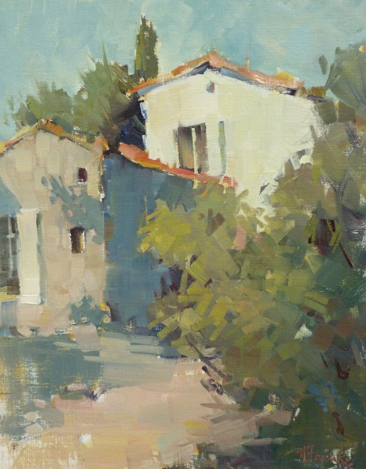 Travels Remembered And Recent Architecture Painting Oil Painting Landscape Landscape Art