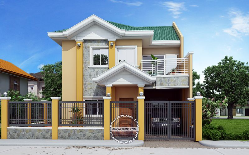 story house plan front view storey design two small also concepts houseconcepts on pinterest rh