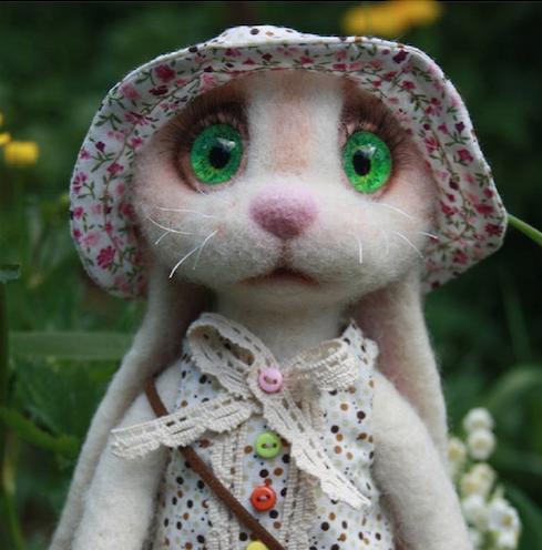 Cute Needle felting project wool cute animals bunny (Via @liubov_marochkina)