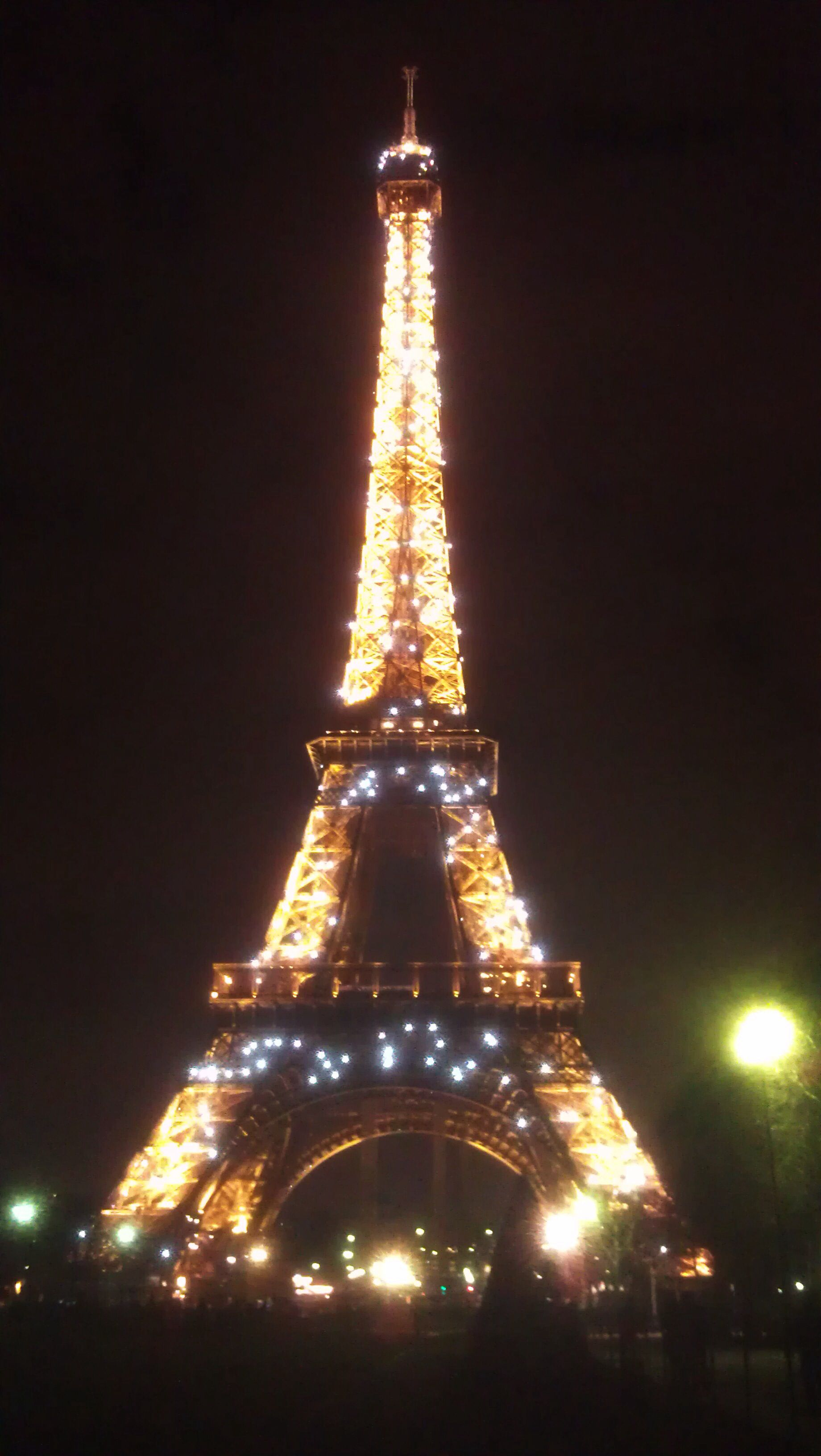 The Eiffel Tower light show at night, some people think it's tacky but as a tourist, I loved it! Made the city seem magical and full of wonder and light #paris #eiffel