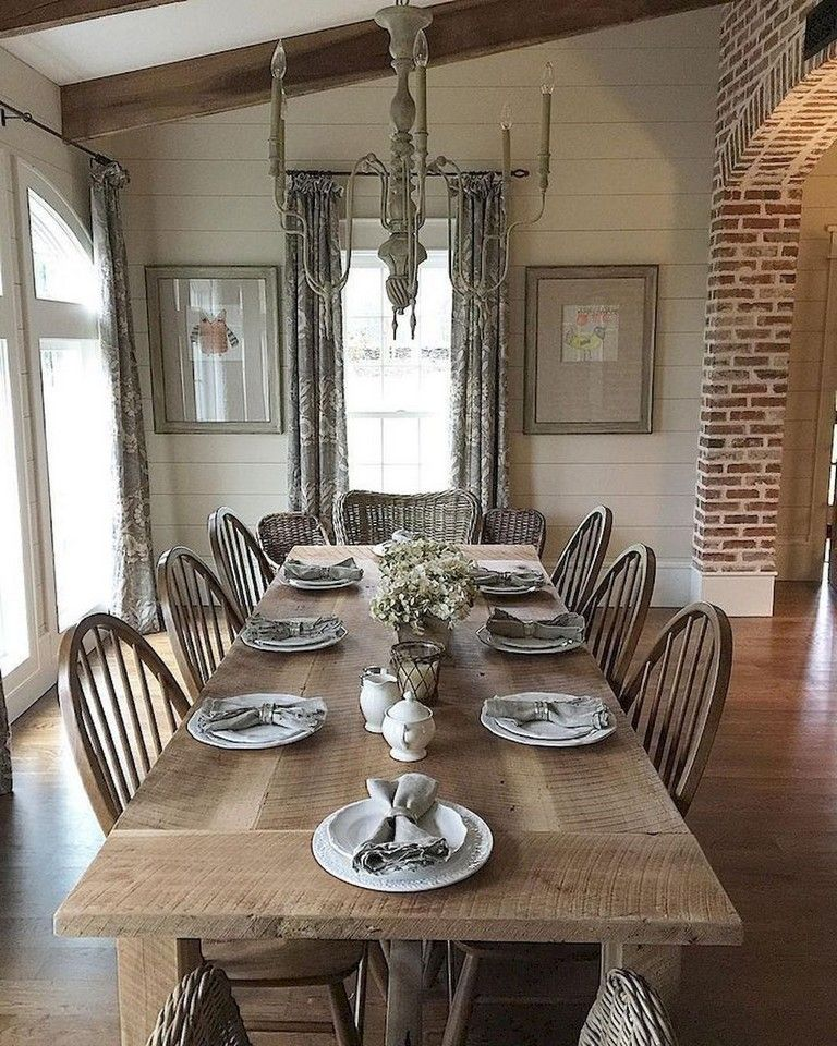 68+ Awesome French Country Dining Room Table Decor Ideas Dining