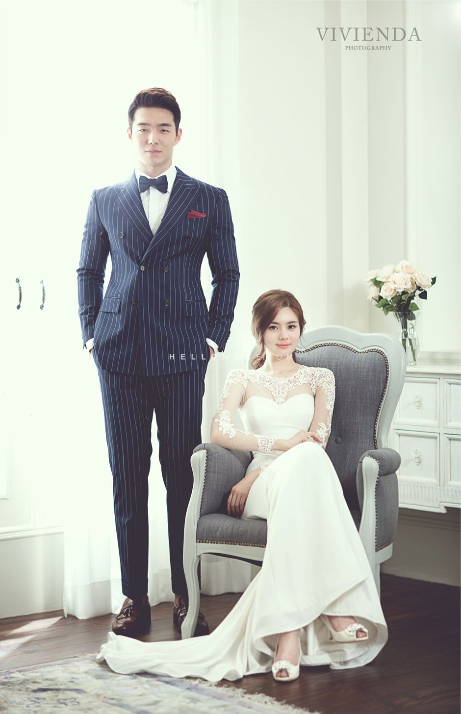 Simple Wedding Dress Bridal Gown Korean Pre Photography