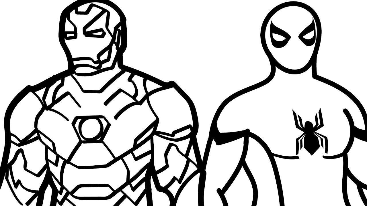 Iron Man And Spiderman Colouring Pages on a budget