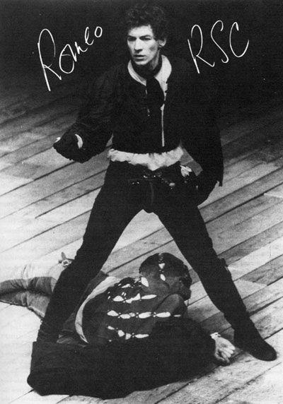 Ian McKellen as Romeo for the Royal Shakespeare Company.