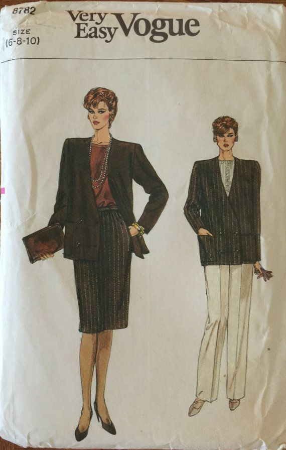 VTG 8782 Vogue 1980's Very Easy Vogue.  by ThePatternParlor