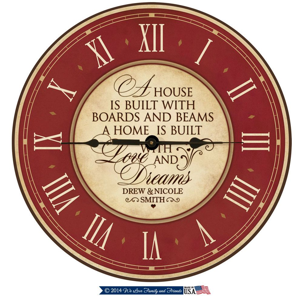 40th anniversary parent wedding giftwooden wall clock