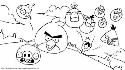 Aneka Gambar Mewarnai Gambar Mewarnai Angry Birds Untuk Anak Paud