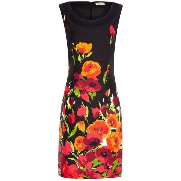 Bouquet Print Shift Dress ($110) found on Polyvore