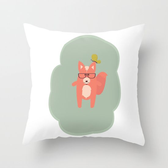 @paisleyprintsonline $20.00 http://society6.com/product/wise-fox-4ze_pillow#25=193&18=126