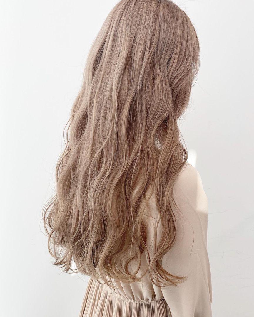 ダブルカラー ラベンダーベージュ 2020 髪 カラー パープル