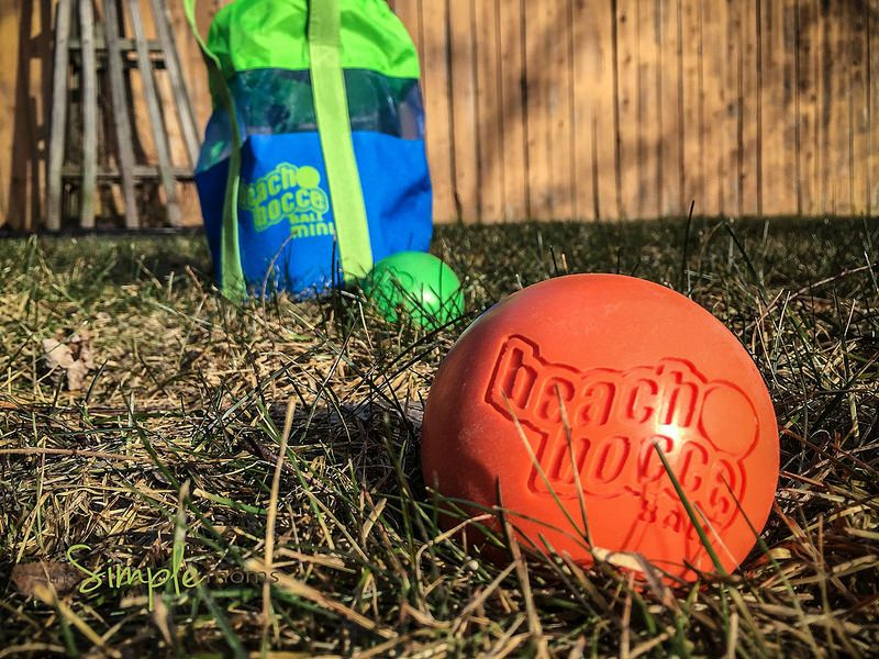 beach bocce ball mini on the go review + giveaway