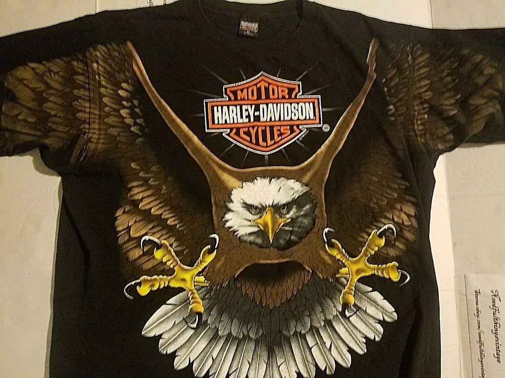 e0520281 Vintage 1996 Harley Davidson Big Eagle T-Shirt Size XL New #HarleyDavidson  #GraphicTee