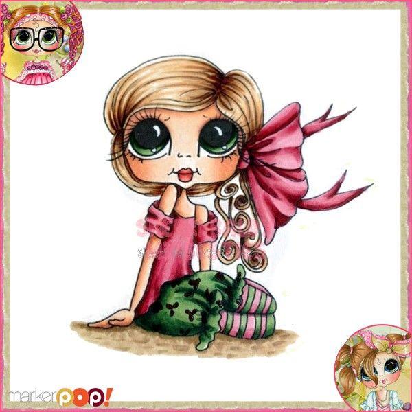 Sherri Baldy My Besties Rubber Stamp - Tiny Tilda