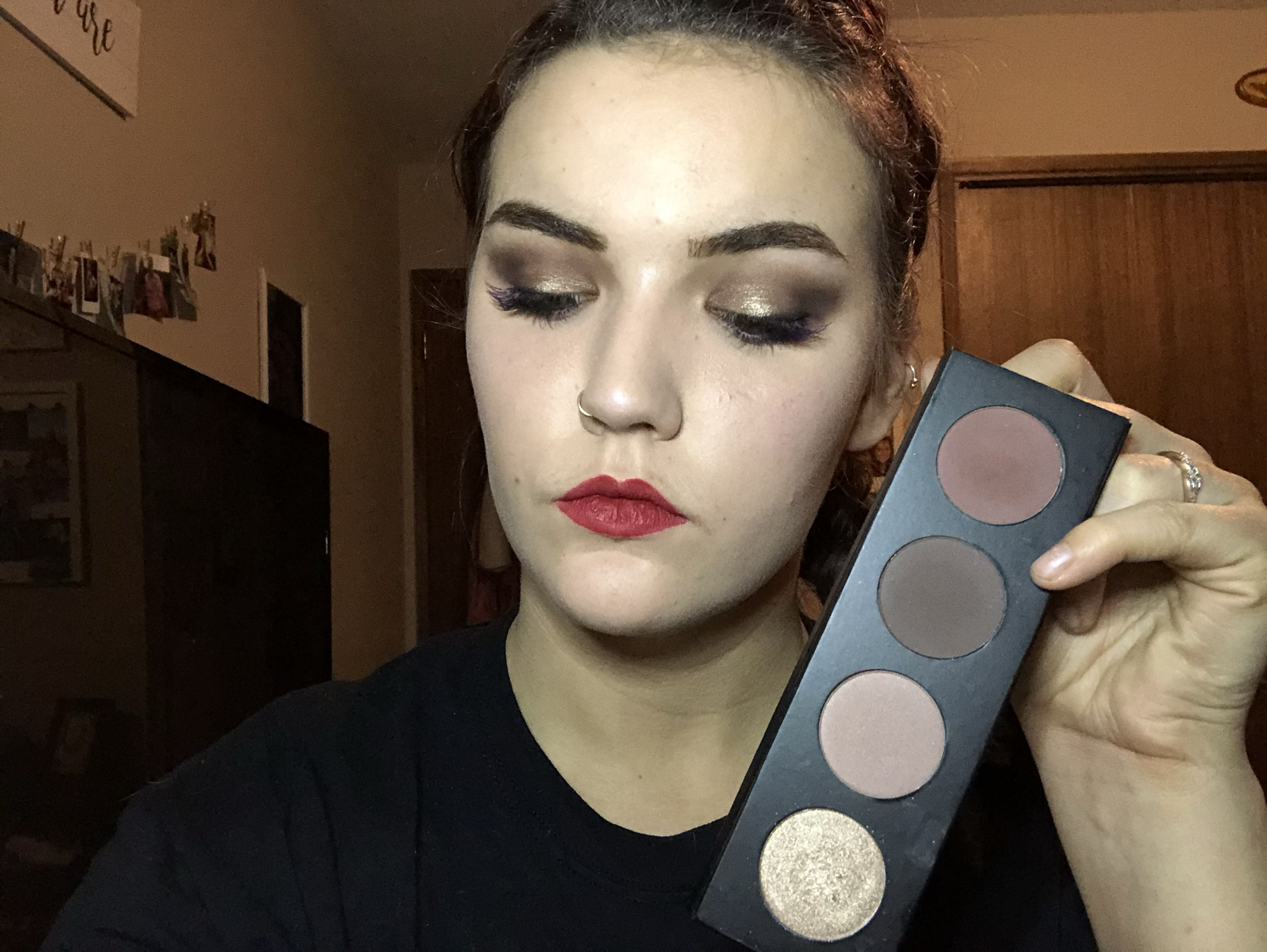 Smokey Quad Palette Eyeshadow looks, Halloween face