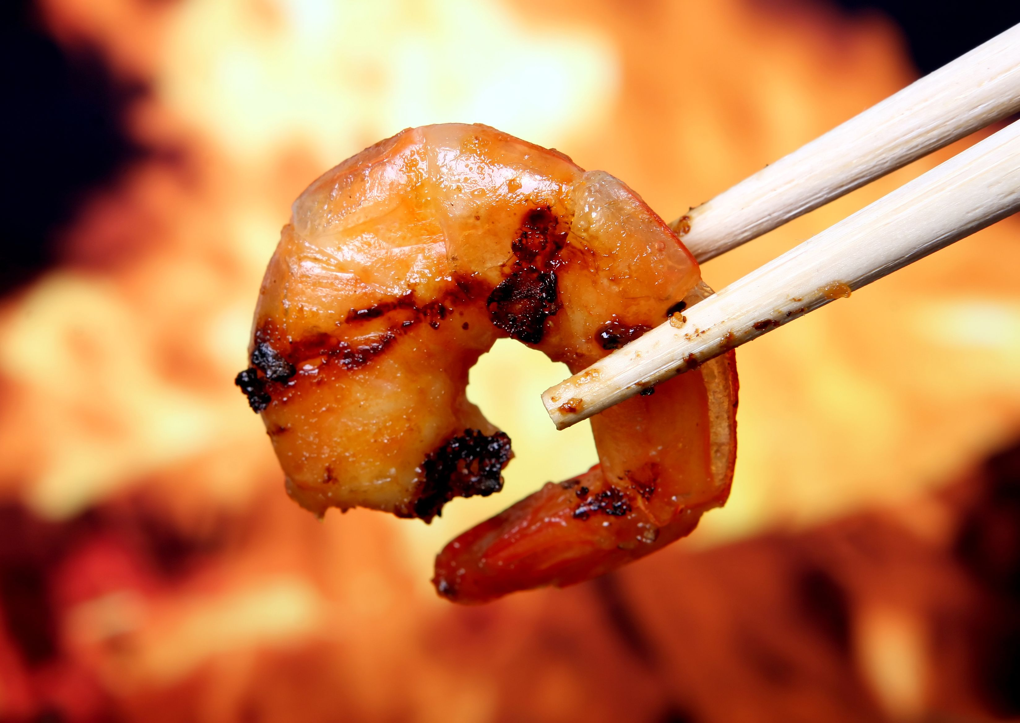 Shrimp with green tea leaves recipe