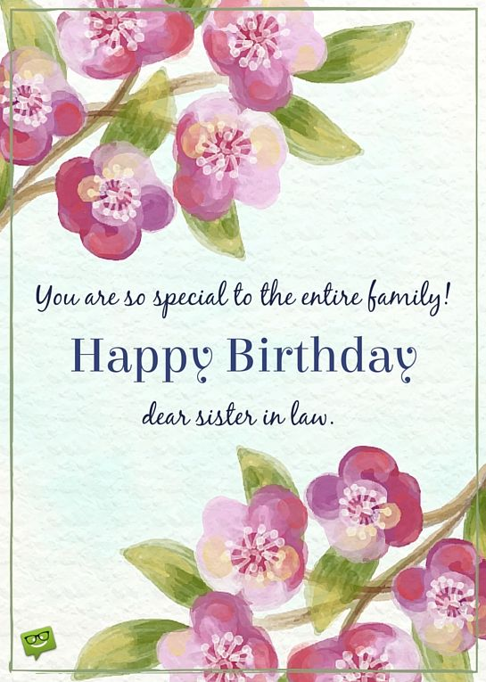 The Special Day Of A Great Sis Happy Birthday Sister In Law Birthday Wishes Quotes 20th Birthday Wishes Birthday Greetings Funny