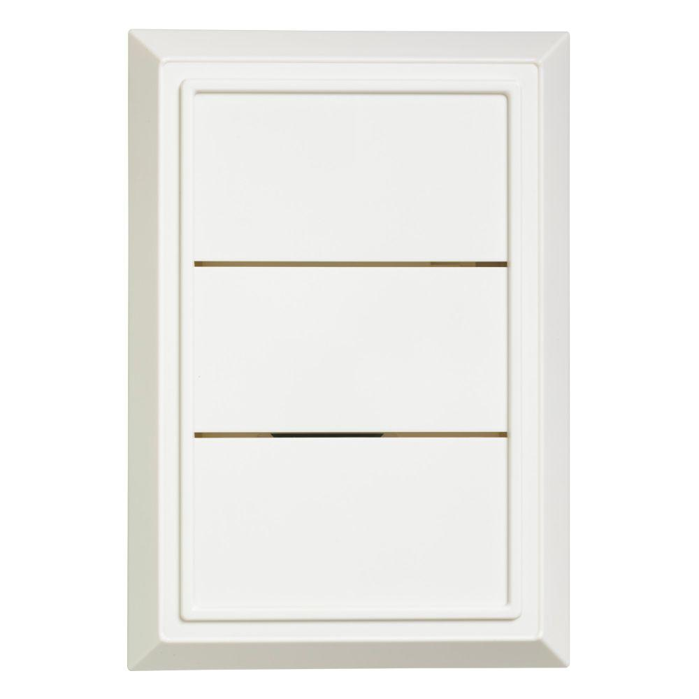 White Wired Door Chime Receiver