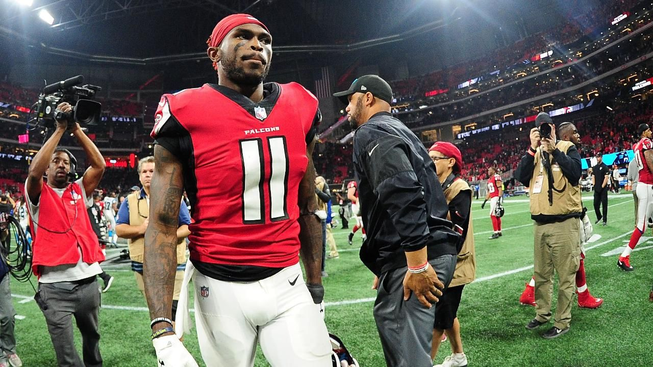 Report Falcons Won T Give Julio Jones New Deal Before Season Mrss Julio Jones Julio Jones Falcons Carolina Panthers