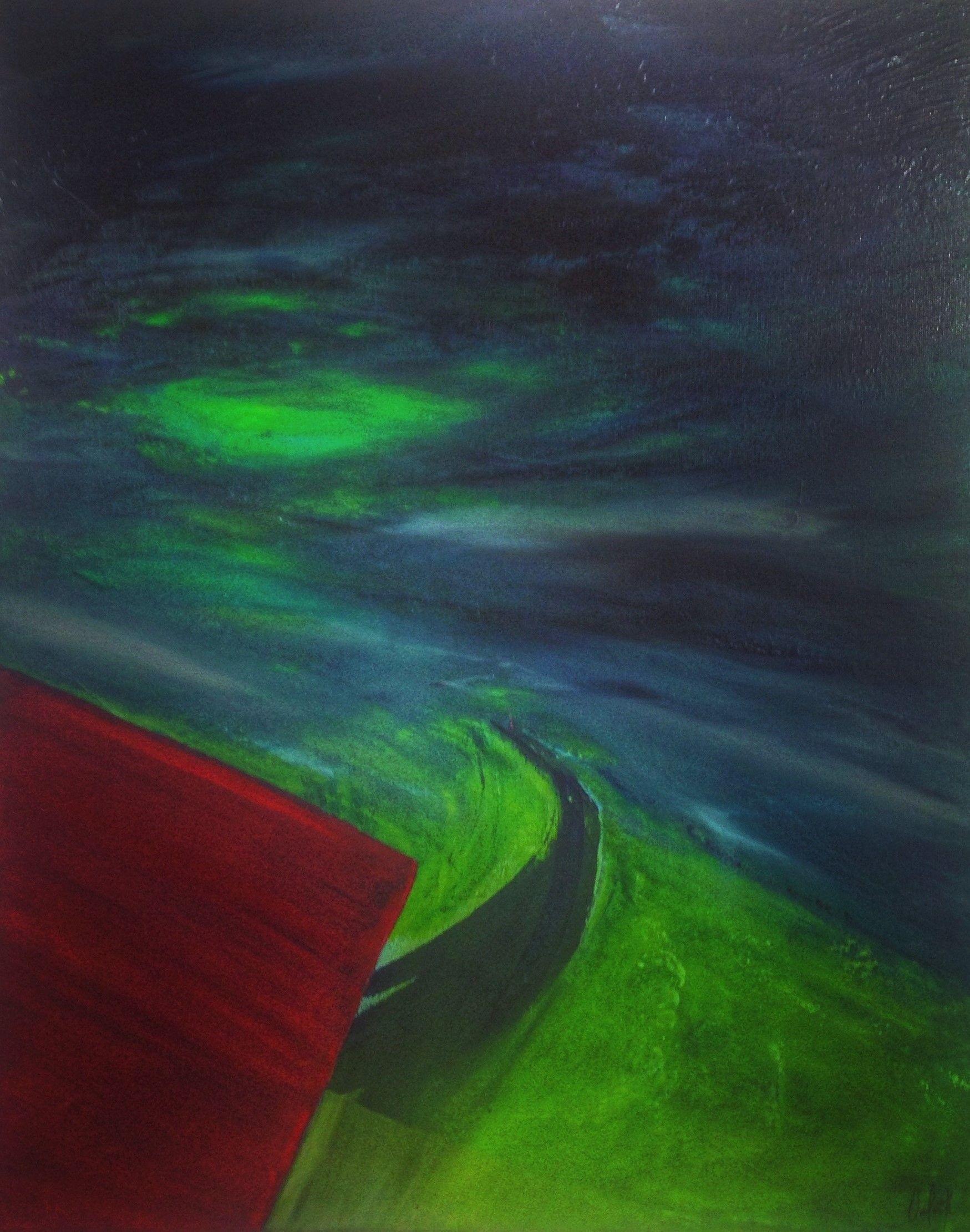 Green Light  2018  50x40cm  'Golden' acrylic paint on canvas