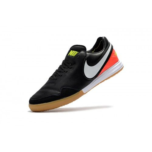 Nike Tiempo - Chaussures De Football Vente Nike TiempoX Proximo IC Noir  Rouge Online