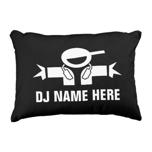 Custom DJ diskjockey throw pillow for music deejay