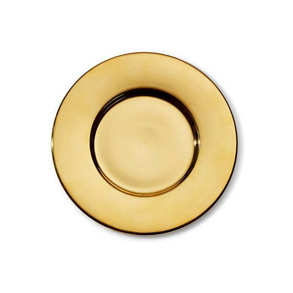 Shiny Gold Charger Serving Plates & Platters ($195) via Polyvore featuring home, kitchen & dining, serveware, gold and gold platter