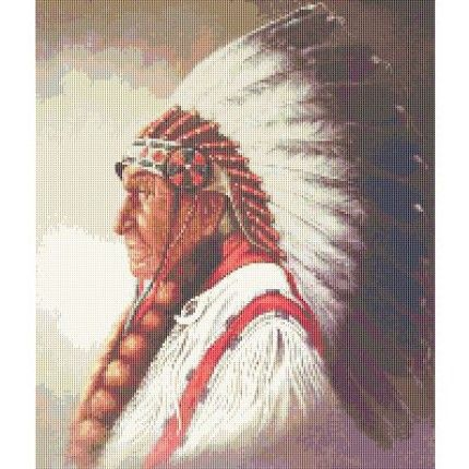 Counted Cross Stitch Pattern Native American Indian Head Pdf
