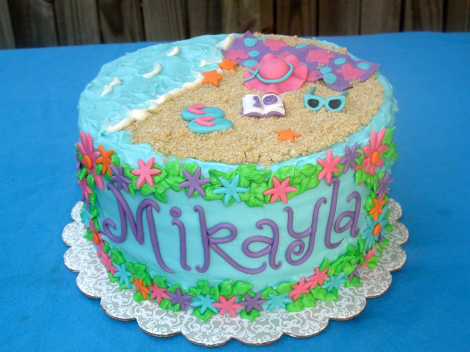 Beach Girl Birthday Cake Tortas Comida Bebida Comida