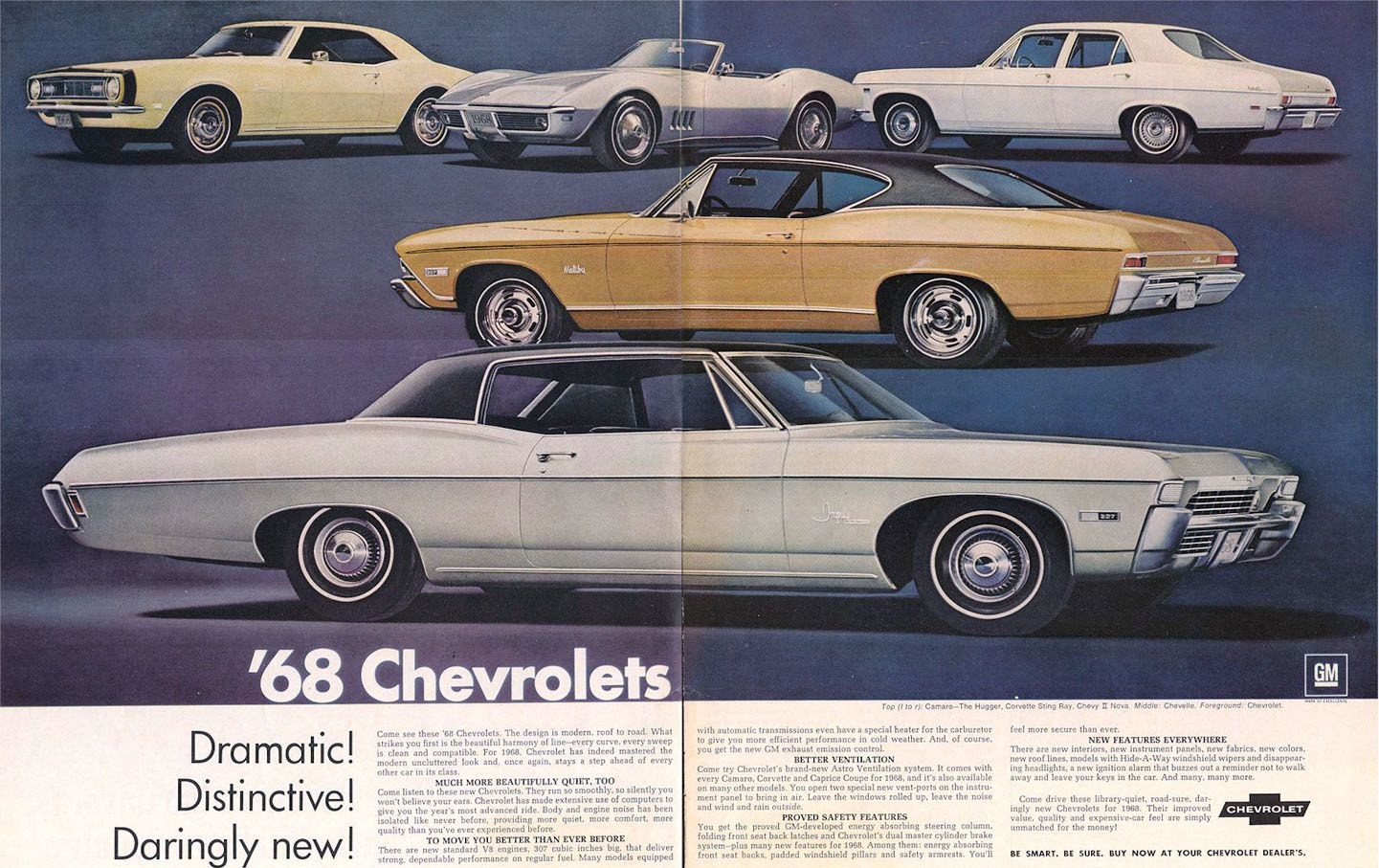 1968 Chevrolet Ad 01 Chevrolet Chevy Automobile Advertising