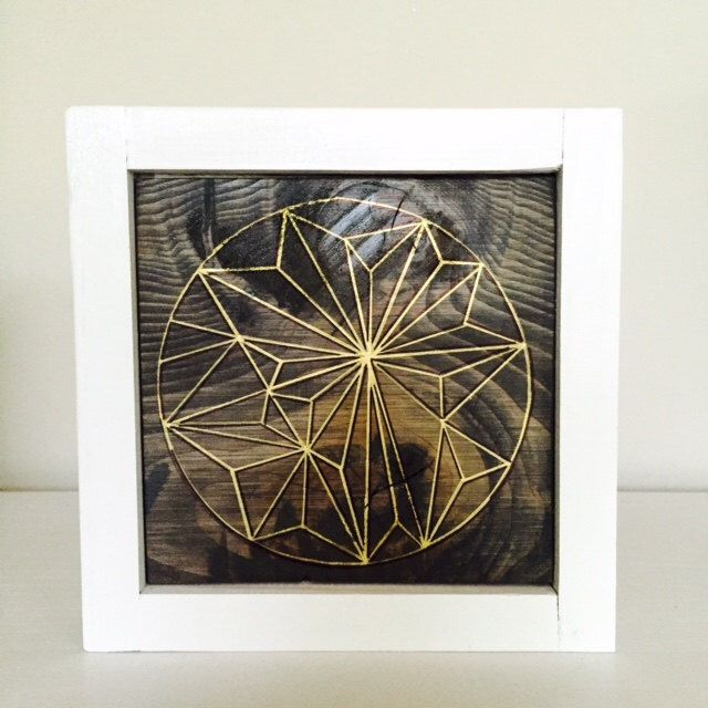 Geometric art  personal favorite from my etsy shop https also reclaimed wood small wall gold decor rh pinterest