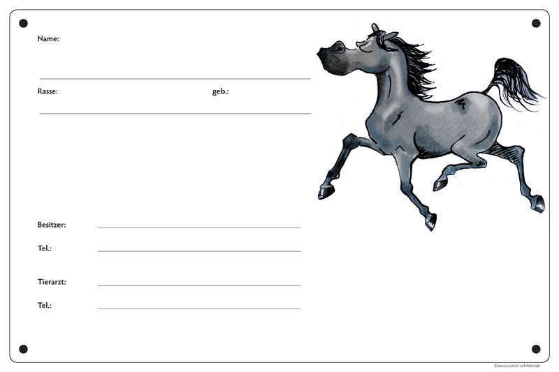Boxenschild Angeber Rappe Boxenschild Boxenschild Pferd Schwarze Pferde