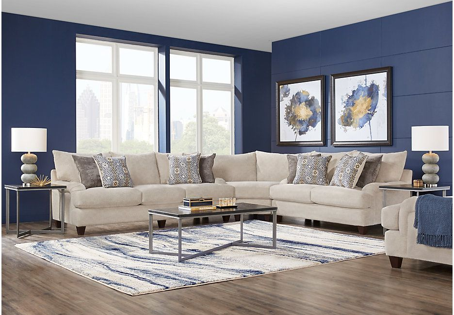 Best Waverly Park Beige 3 Pc Sectional Sectionals Beige 400 x 300