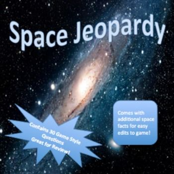 Astronomy And Space Science Jeopardy Game  Solar System Gaming