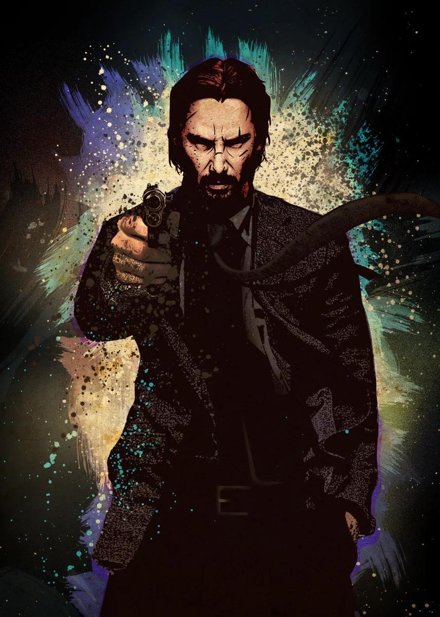 Artist Eden Design Metal Posters Displate John Wick Movie John Wick Hd John Wick