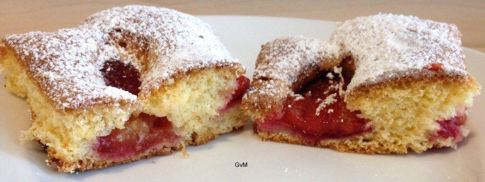 """Österreichischer  """"Obstfleck"""" oder Zwetschken Blechkuchen"""