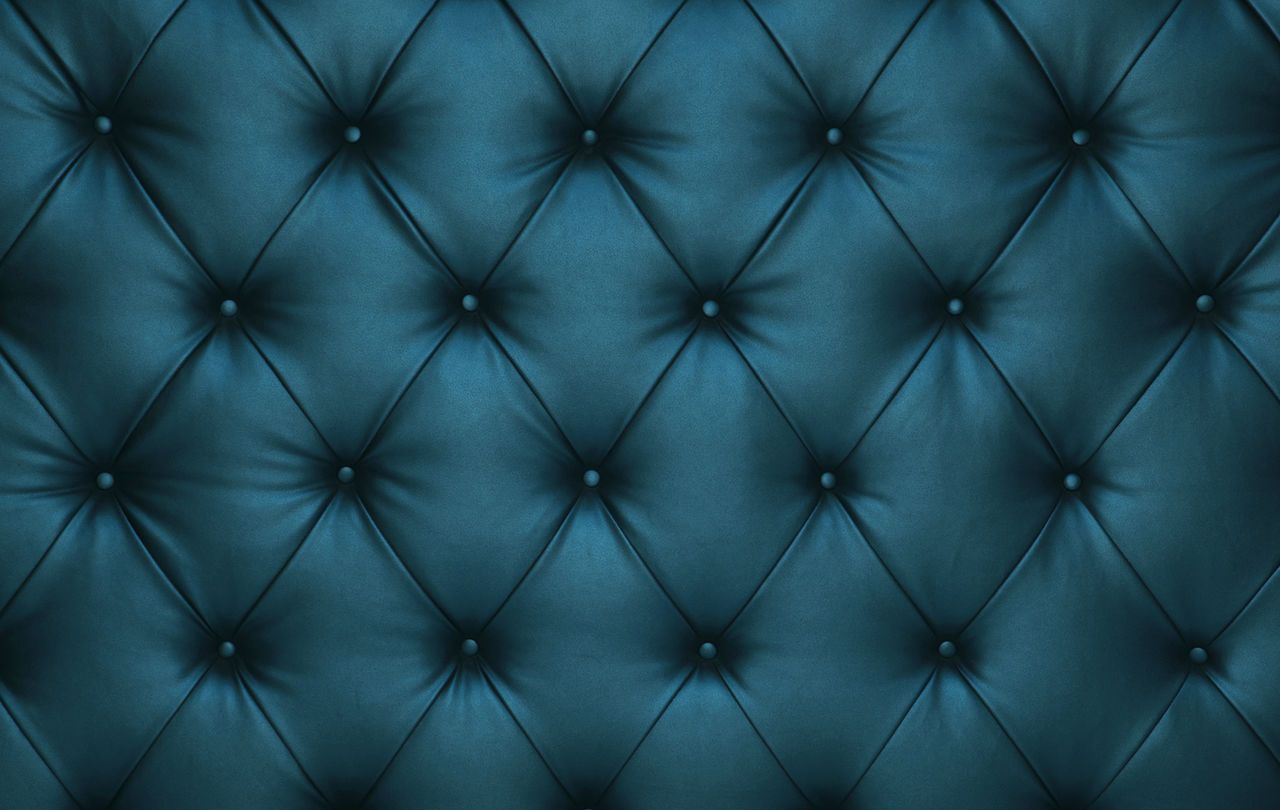 Soft Blue Capitone Tufted Textile Leather Bed Headboard
