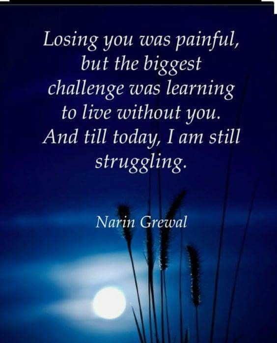 Losing you was painful