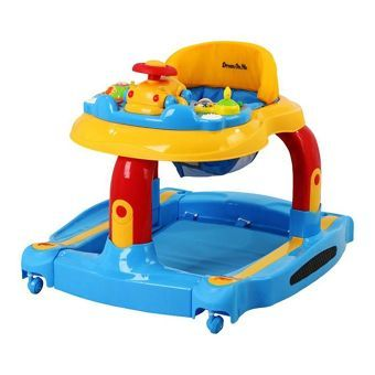4cc37cb93 2-in-1 Baby Tunes Musical Activity Walker and Rocker in Yellow ...