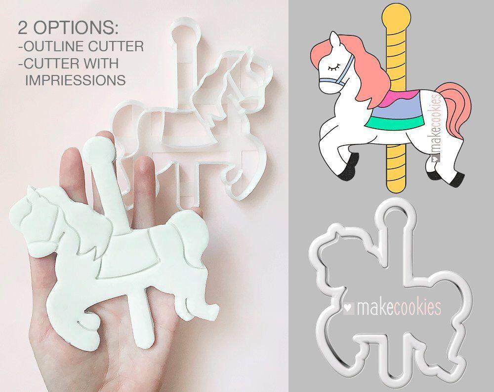 Carousel Horse 101 Cookie Cutter